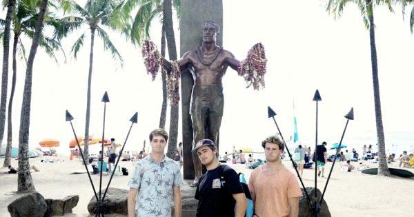Invierno en Hawaii para Natxo, Adrián y Aletxu